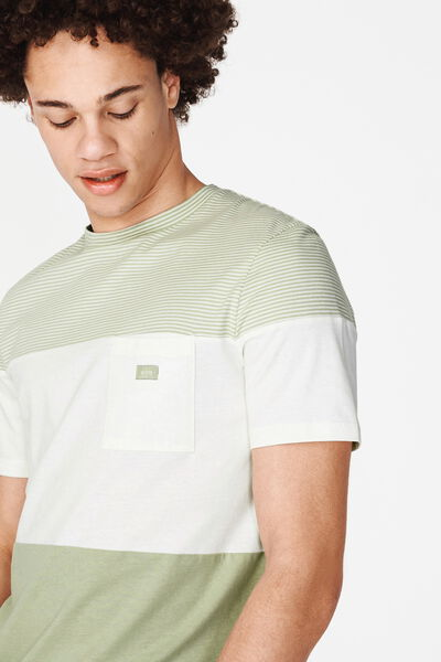 T-shirt colorblock poche