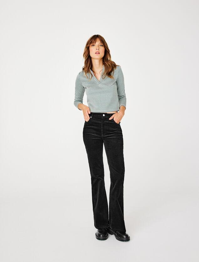 Pantalon Flare Velours