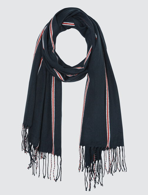 Foulard Chaud Fines Rayures Tricolore homme