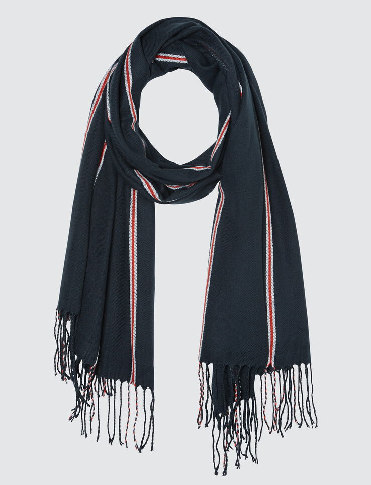 Foulard Chaud Fines Rayures Tricolore