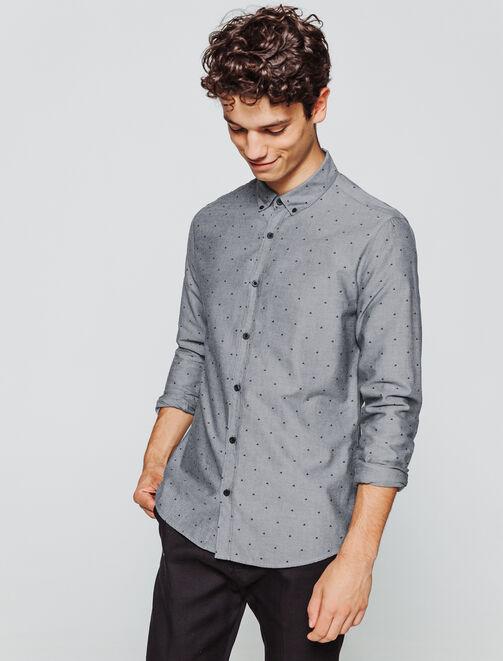 Chemise moulinée fantaisie homme