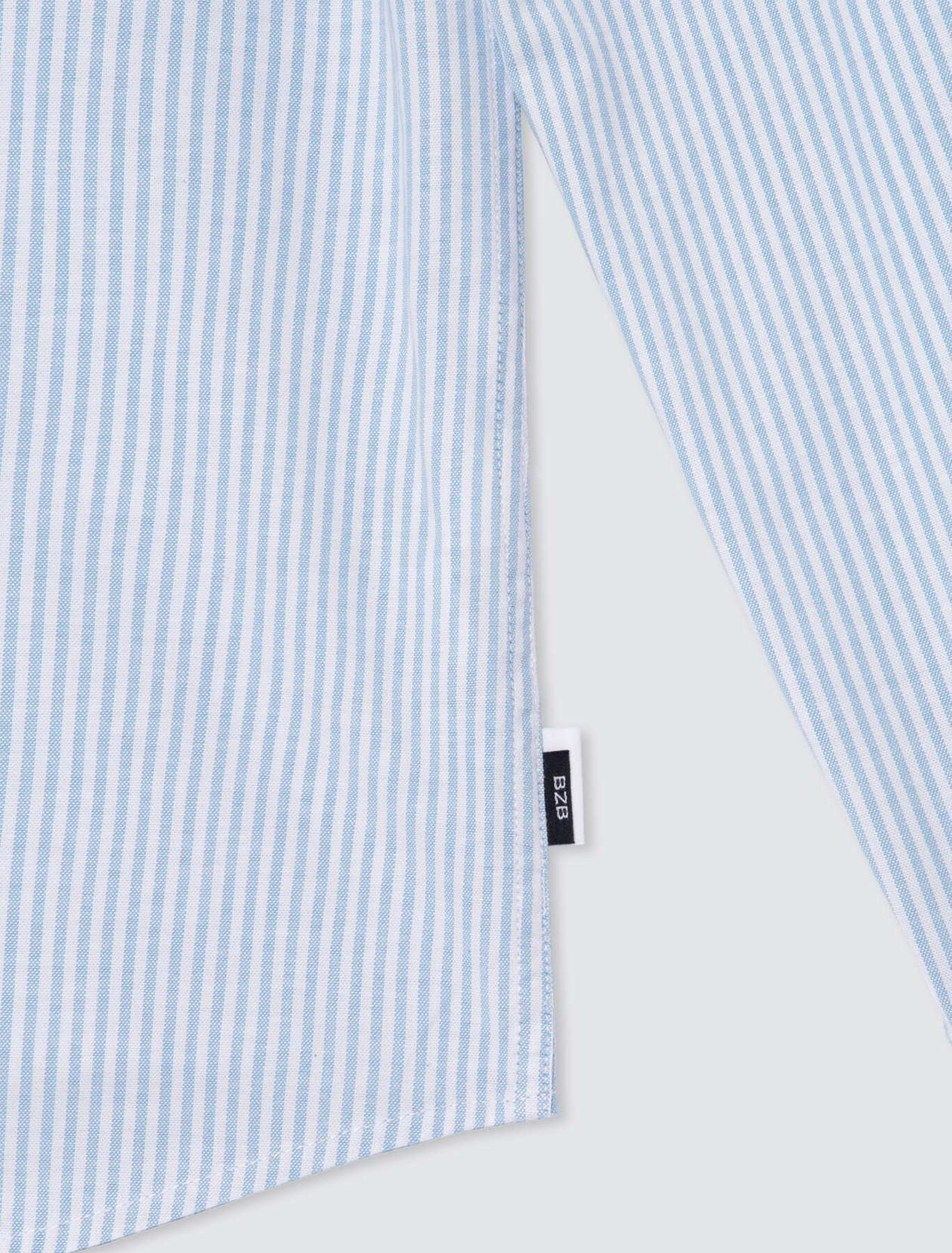Chemise rayée oxford stretch