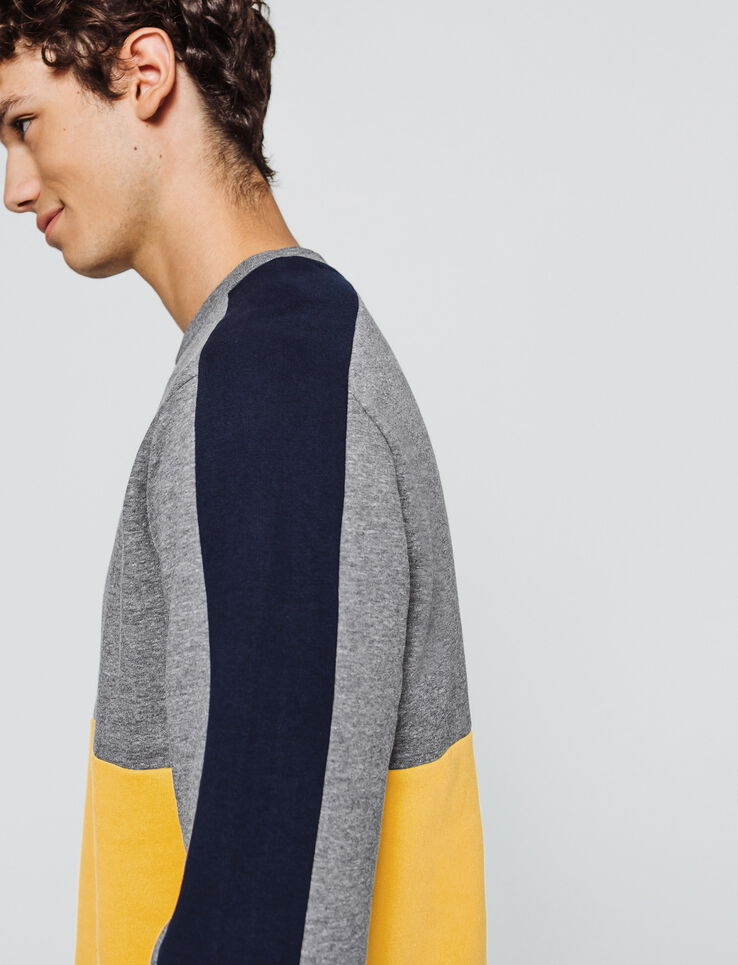 Sweat col rond colorblock