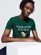 """T-shirt """"j'ai besoin d'un verre pas de ton avis"""""""