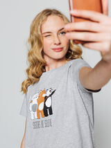 "T-shirt message "" Sisters de selfie"""
