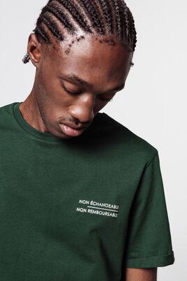T-shirt à message brodé coton bio