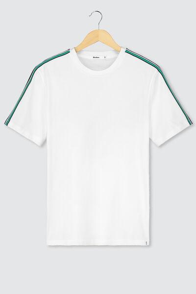 T-shirt bandes épaules en coton BIO