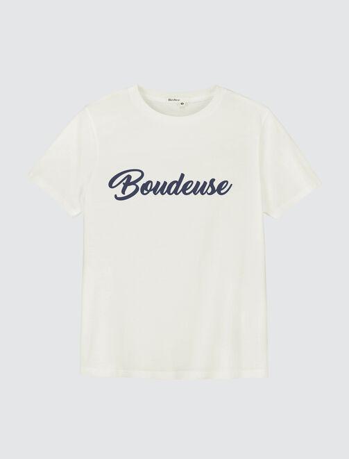 """Tee shirt à message """"Boudeuse"""" femme"""