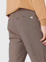 Pantalon à carreaux pied de puce