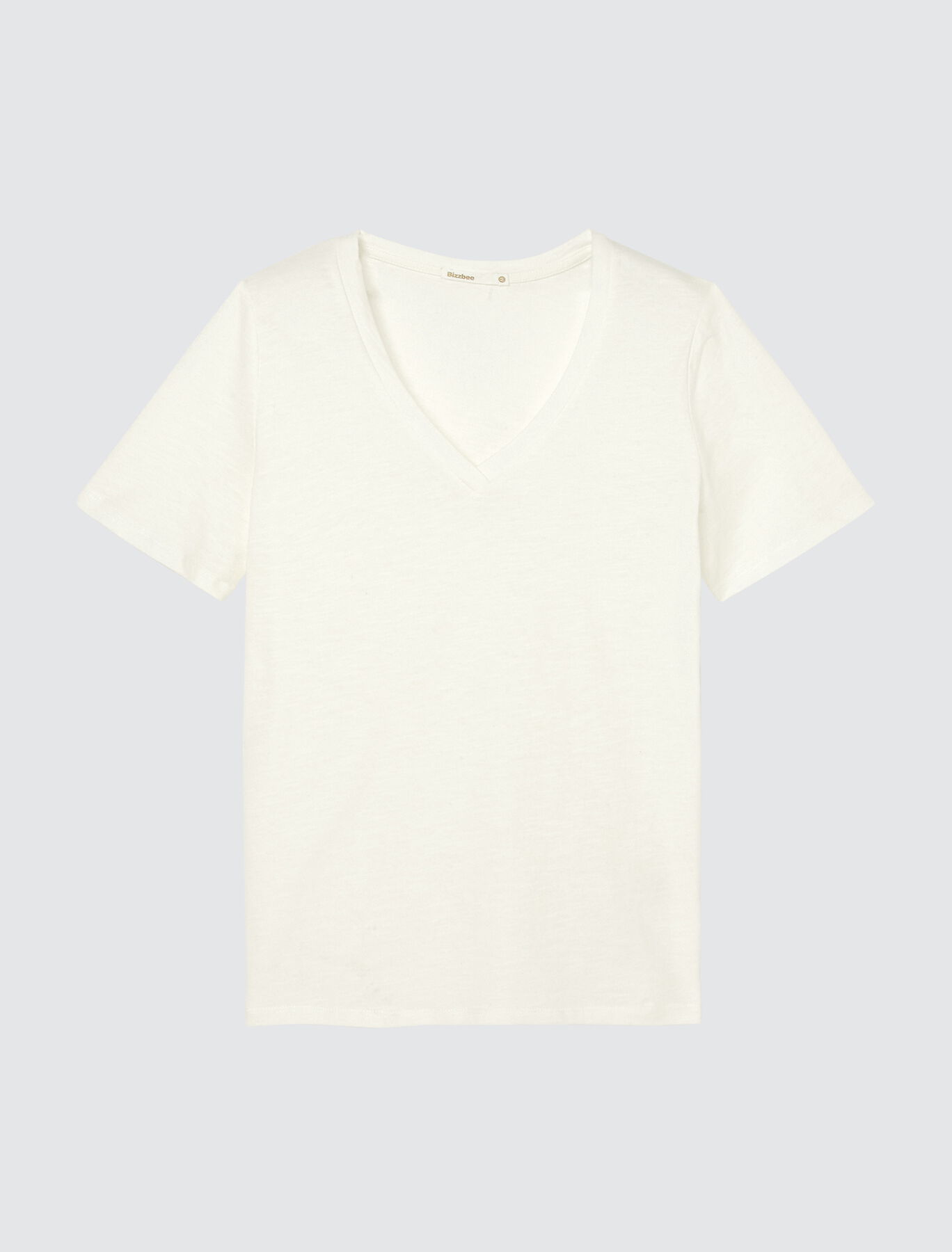 T-shirt col V en coton bio