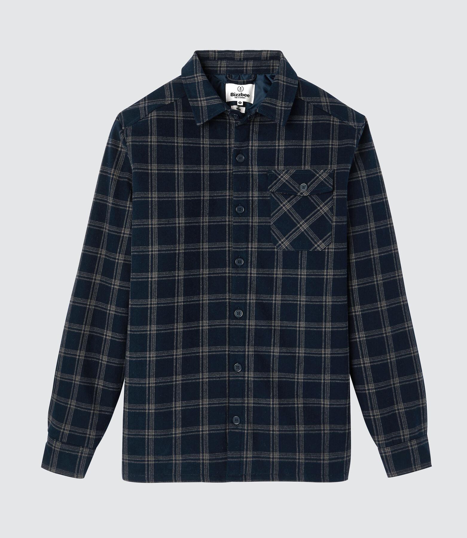 Chemise à carreaux matelassée