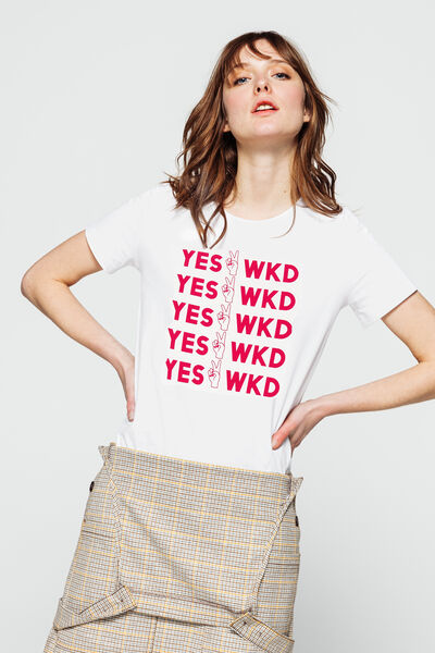 "T-shirt ""yes weekend"""