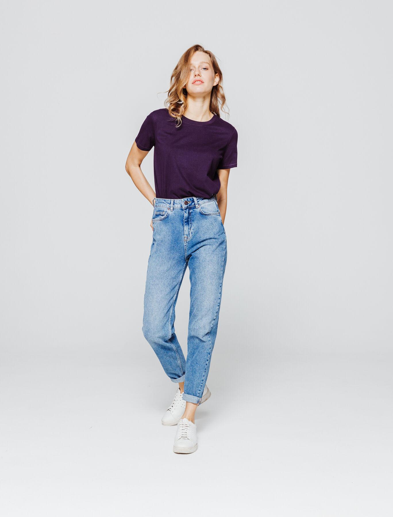 T-shirt col rond uni en coton bio