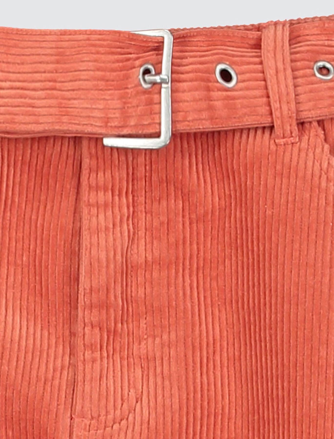 Jupe Velours Ceinturée Coton Recyclé