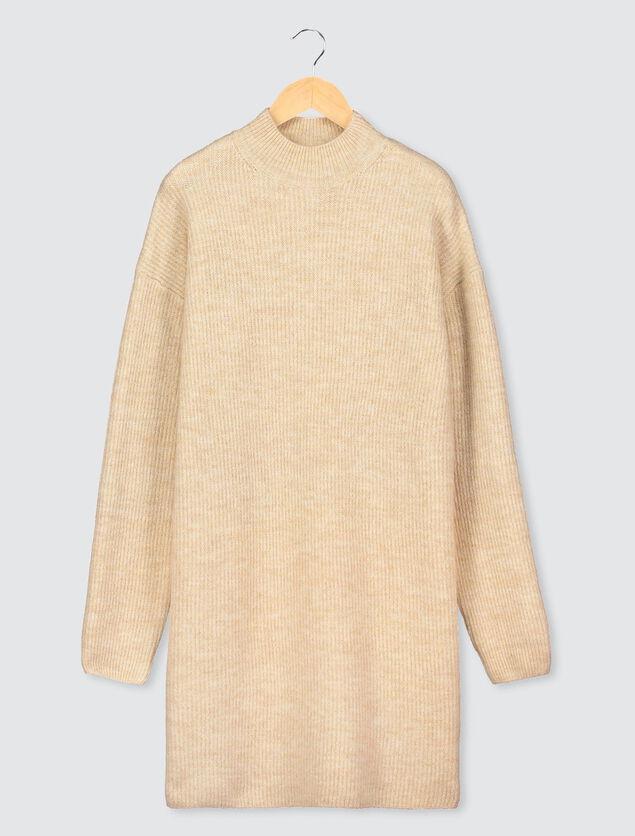 Robe Pull Col Montant en laine