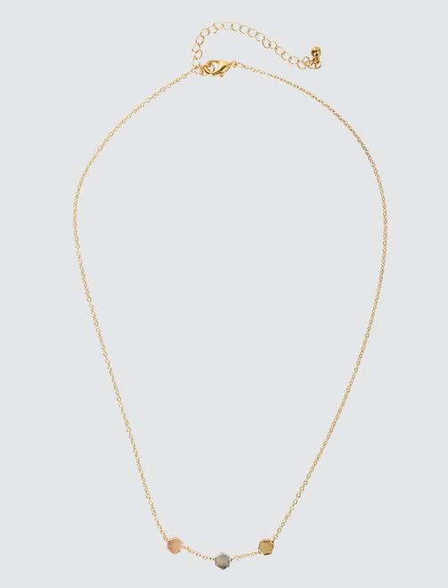 Collier Perles Tricolores femme