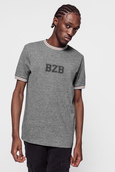 T-shirt logo BZB avec col contrasté