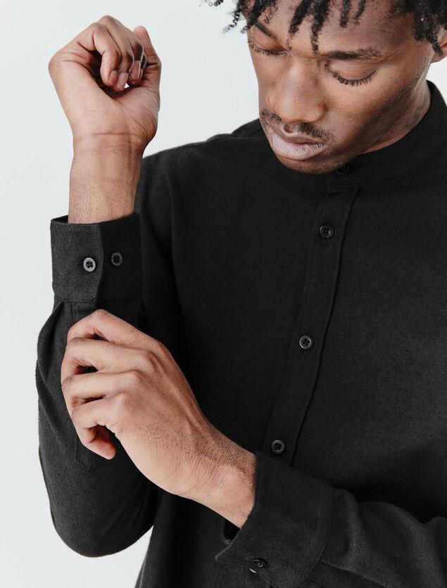 Chemise sans col flanelle