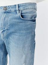 Jean skinny double stone light destroy