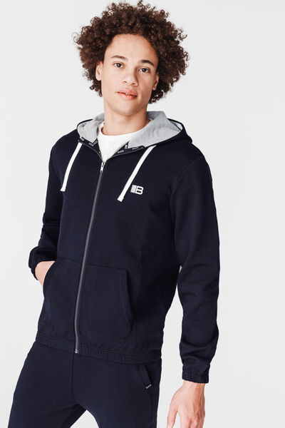 Ensemble sweat zippé et jogging molleton