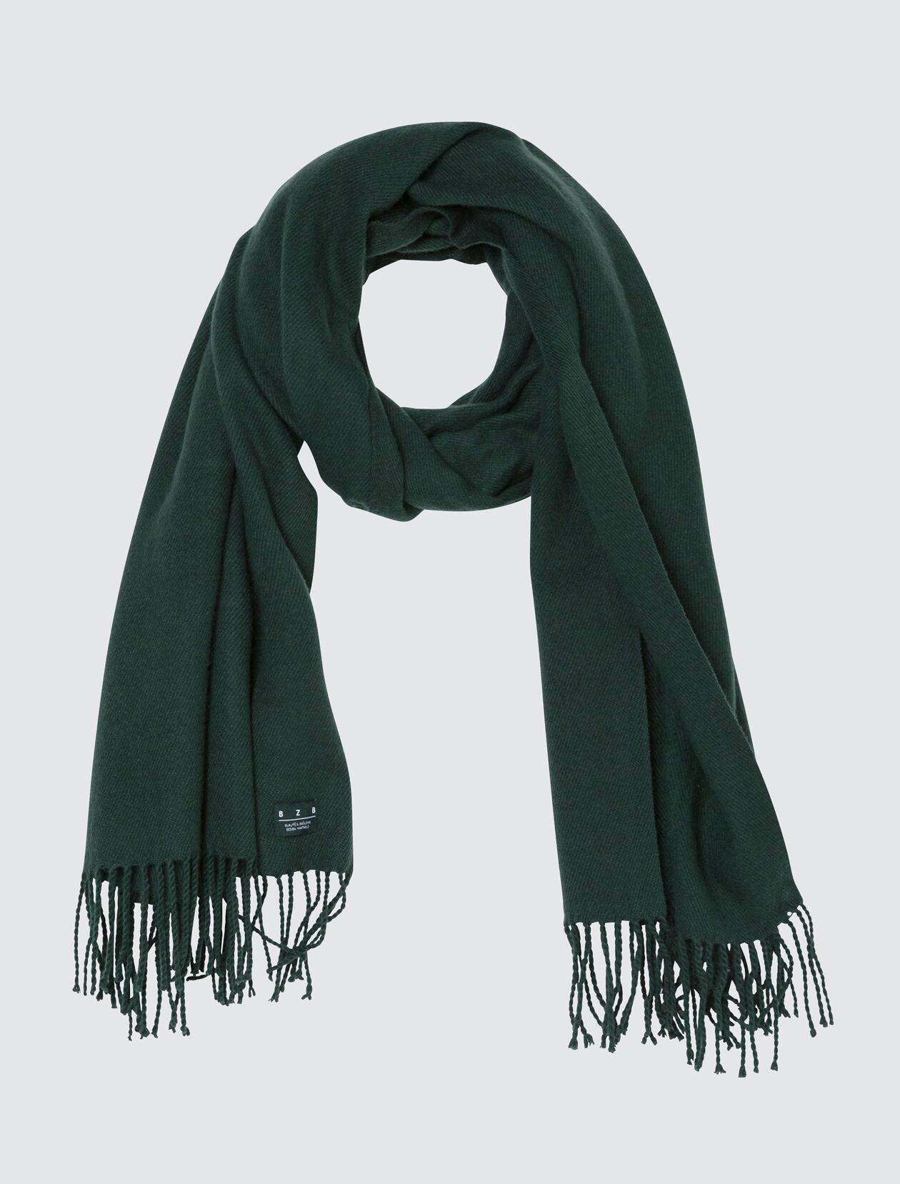 Foulard Chaud Gratté à Franges Femme Vert Bouteille