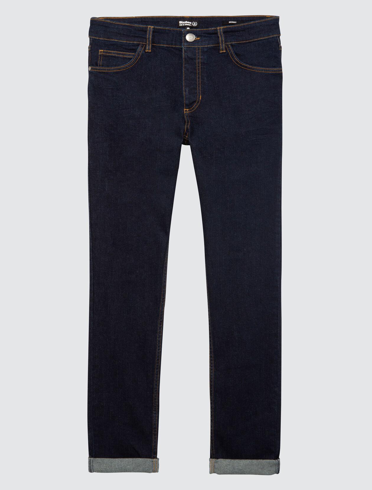 Jean skinny basique rinse blue Homme Brut