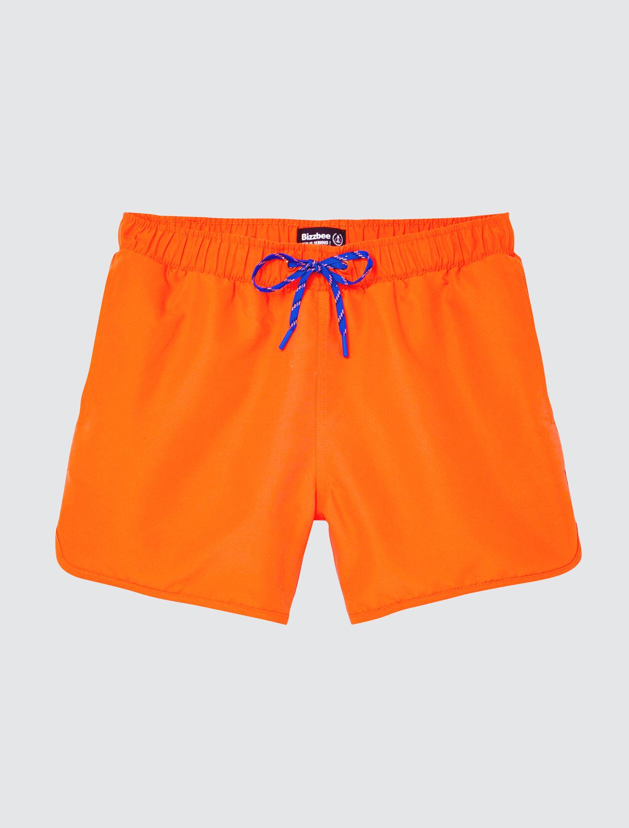Short de Bain Bazzic Uni Détails Fluo Homme Orange