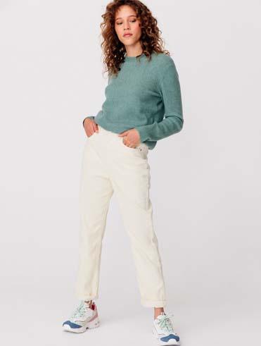 Le pantalon Mom en Velours