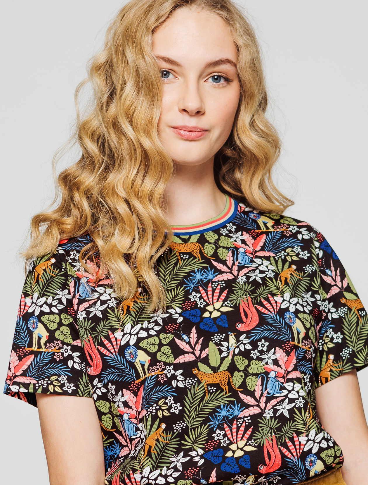 T-shirt imprimé jungle femme