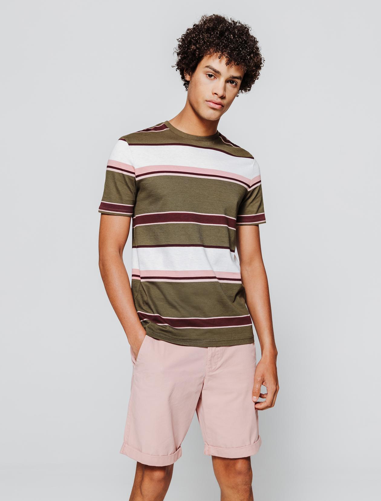 T-shirt rayures irrégulières homme
