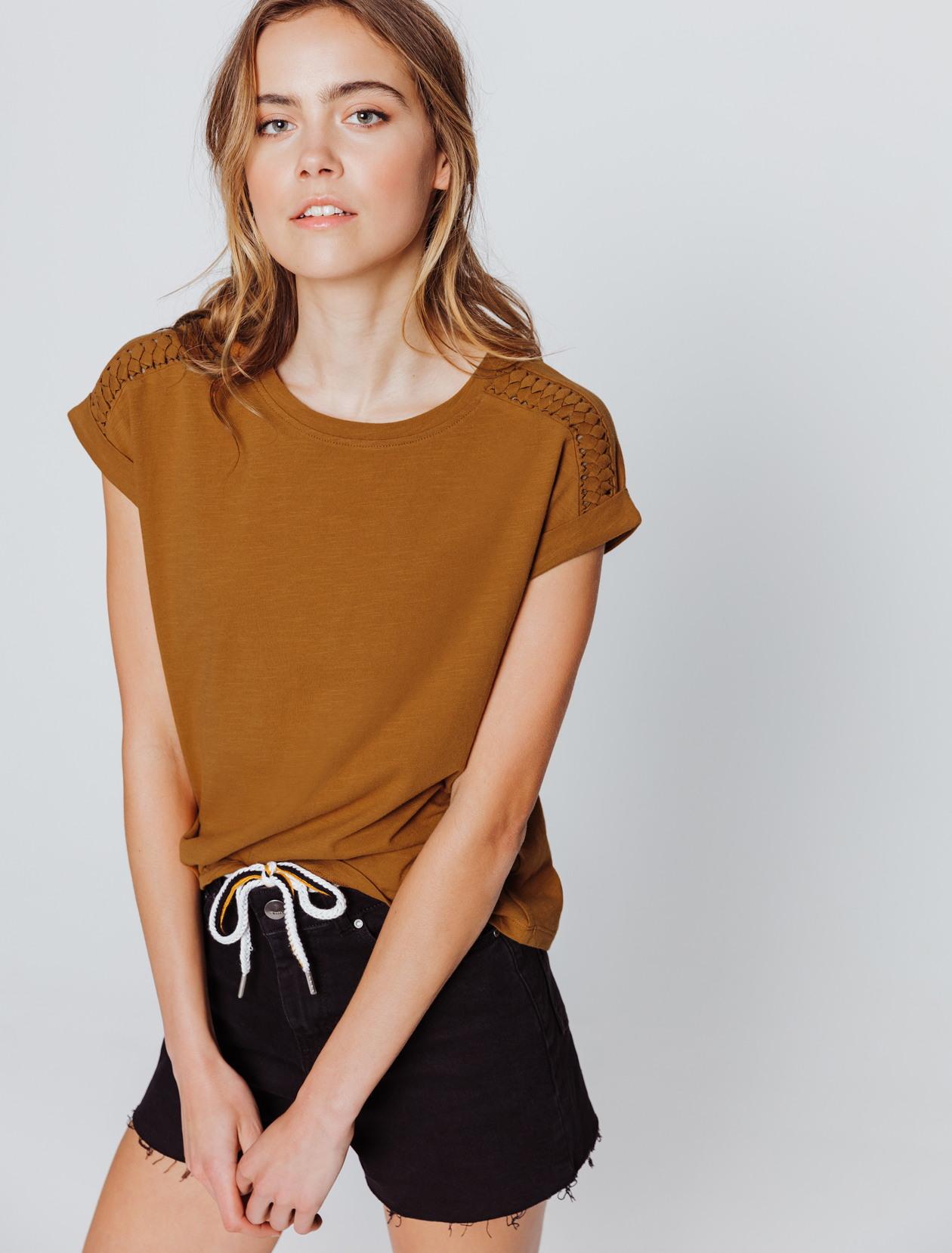 T-shirt tréssé femme