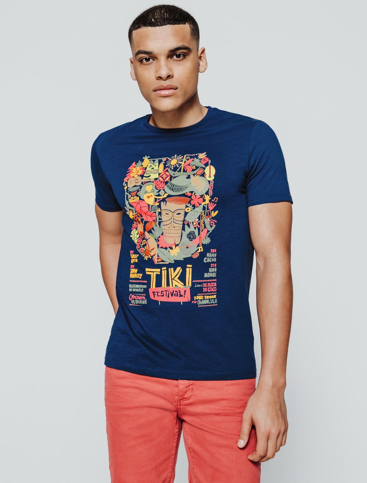 T-shirt affiche festival homme