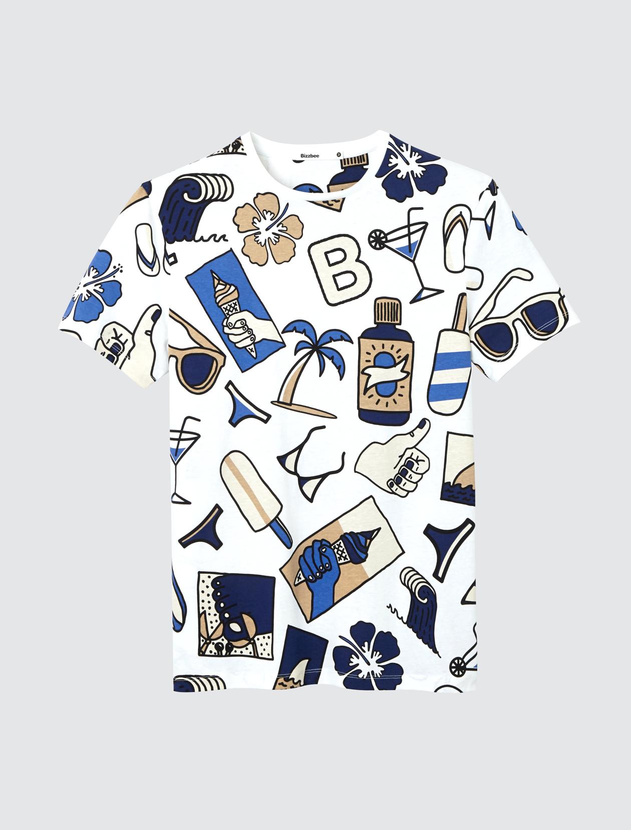 T-shirt imprimé surf homme