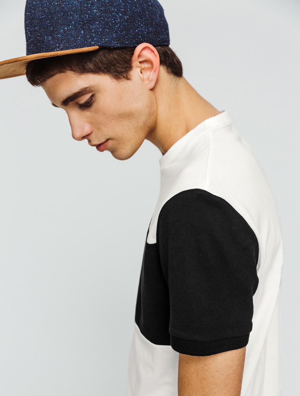 T-shirt color-block piqué homme