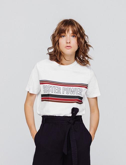 """T-shirt """" sister power"""" femme"""