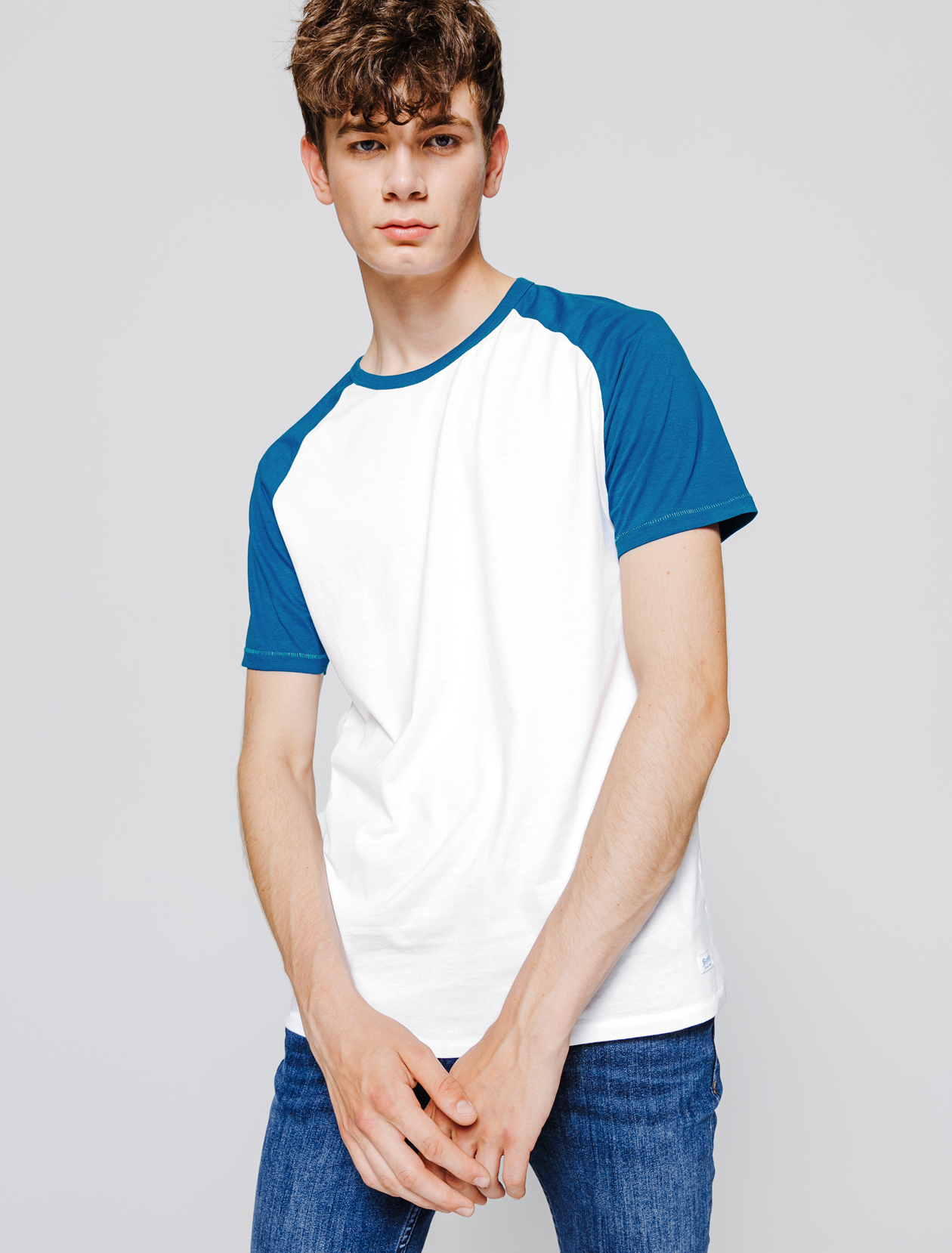 T-shirt manches courtes, raglan. homme