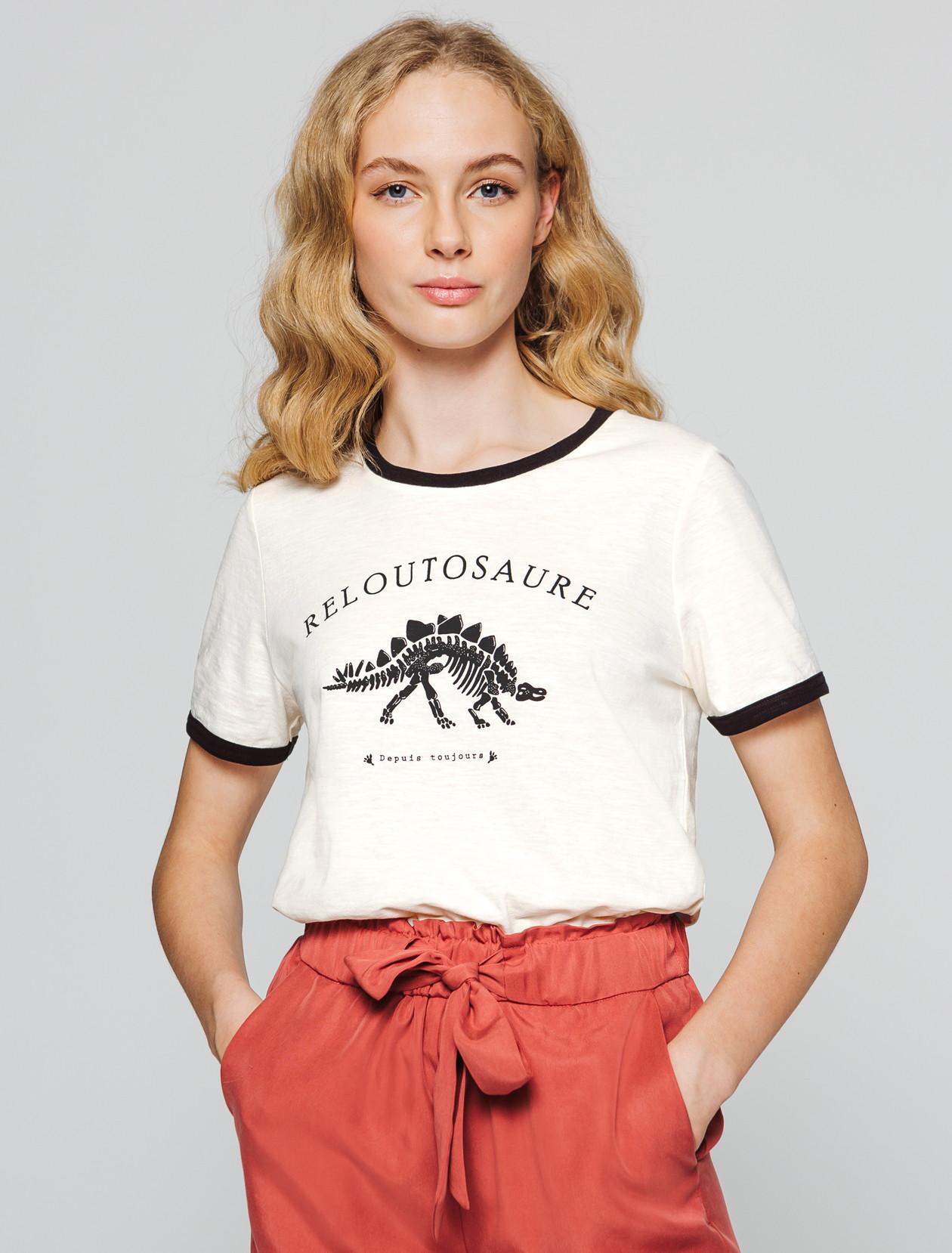 T-shirt message Reloutosaure femme