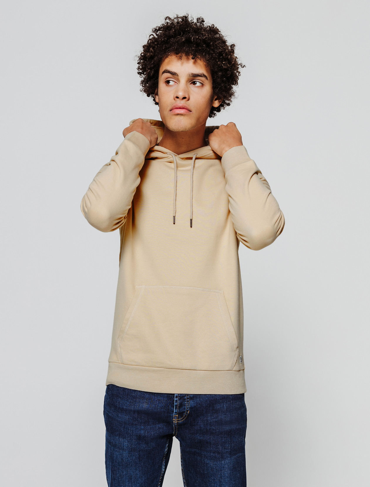 Sweat light capuche french terry homme