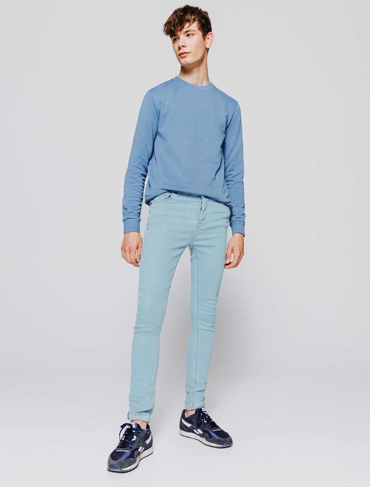 Jean skinny bleached homme