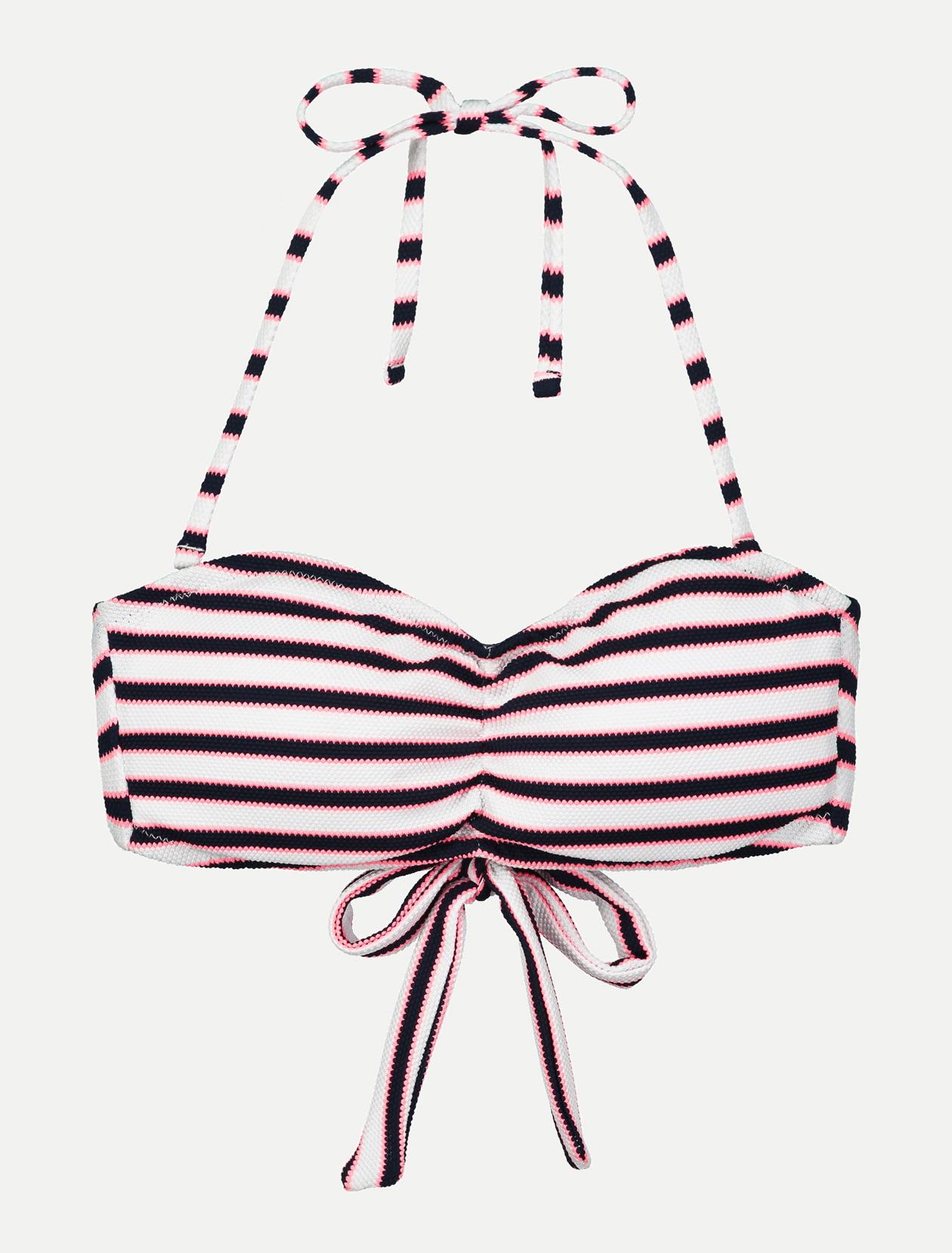 Bandeau de maillot de bain rayé femme