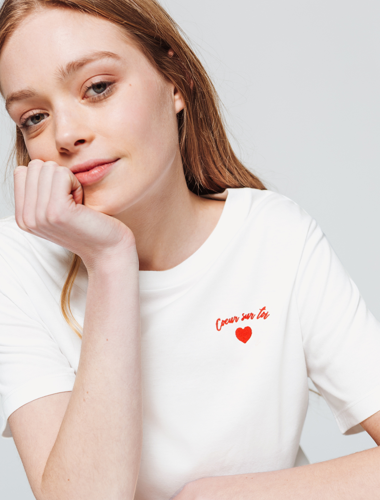"T-shirt ""COEUR SUR TOI"" femme"