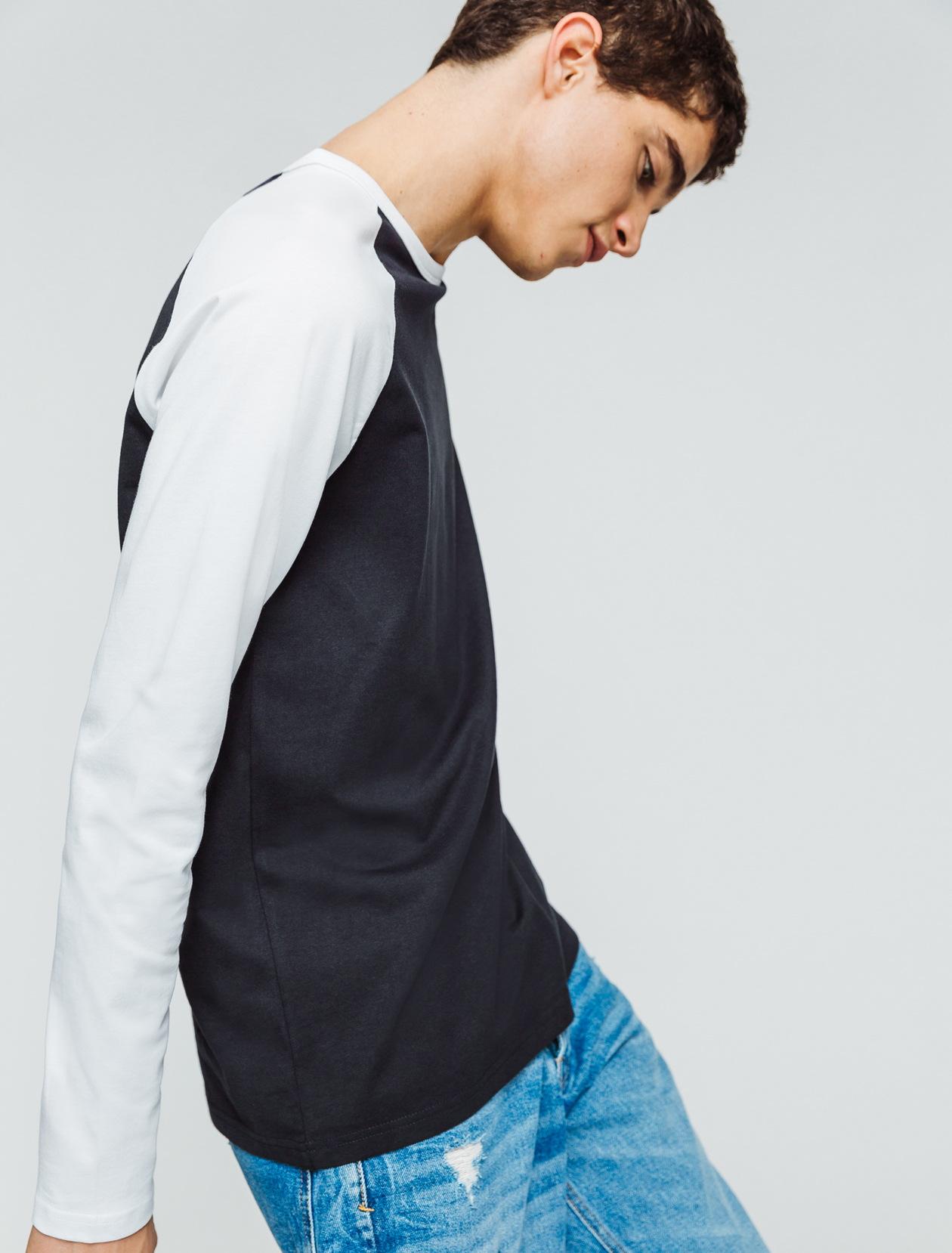 T-shirt raglan manches longues homme