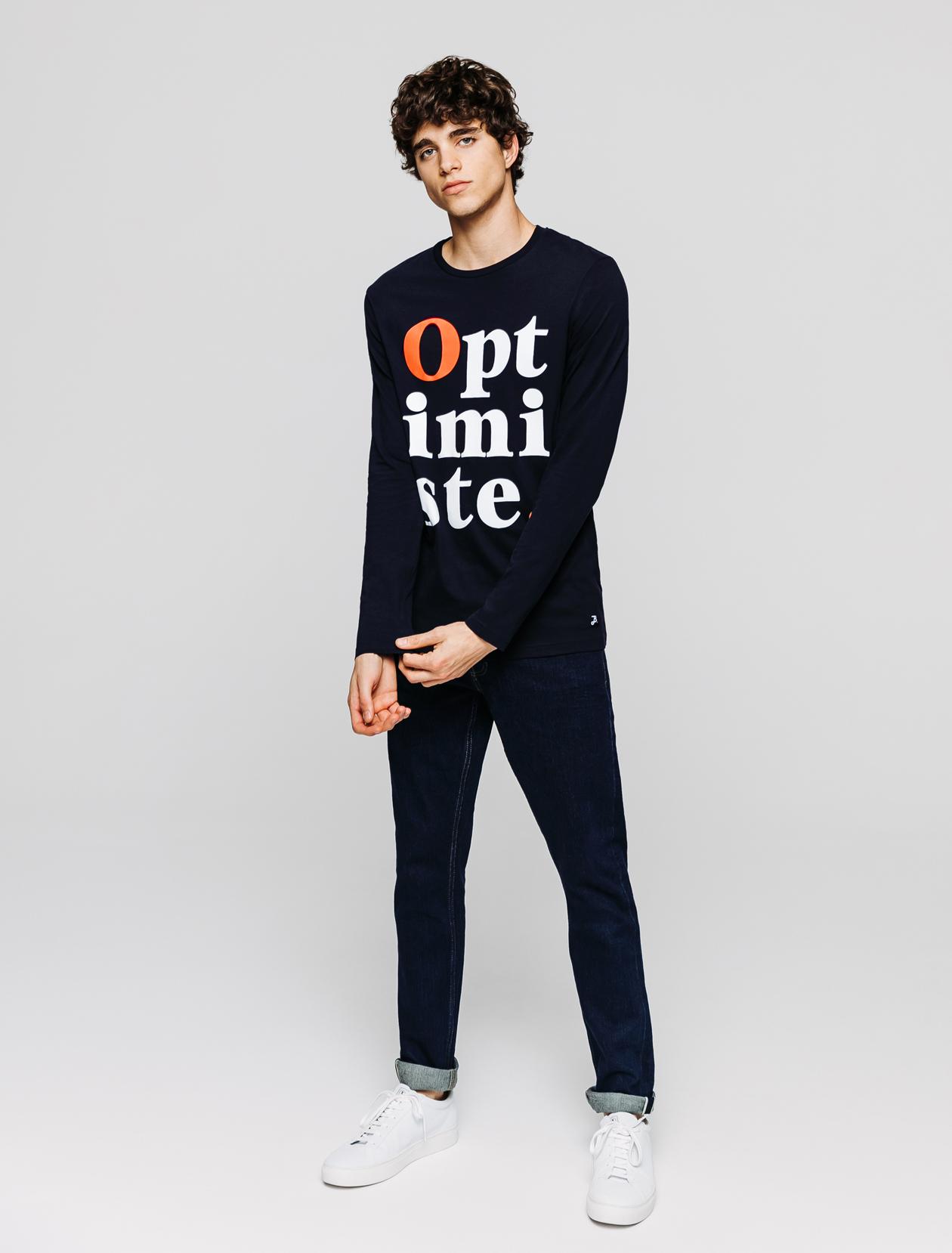 T-shirt manches longues imprimé homme