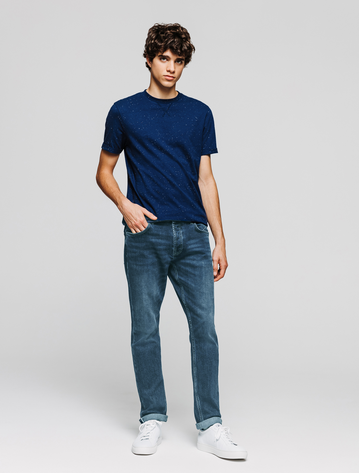 Jean straight selvedge homme