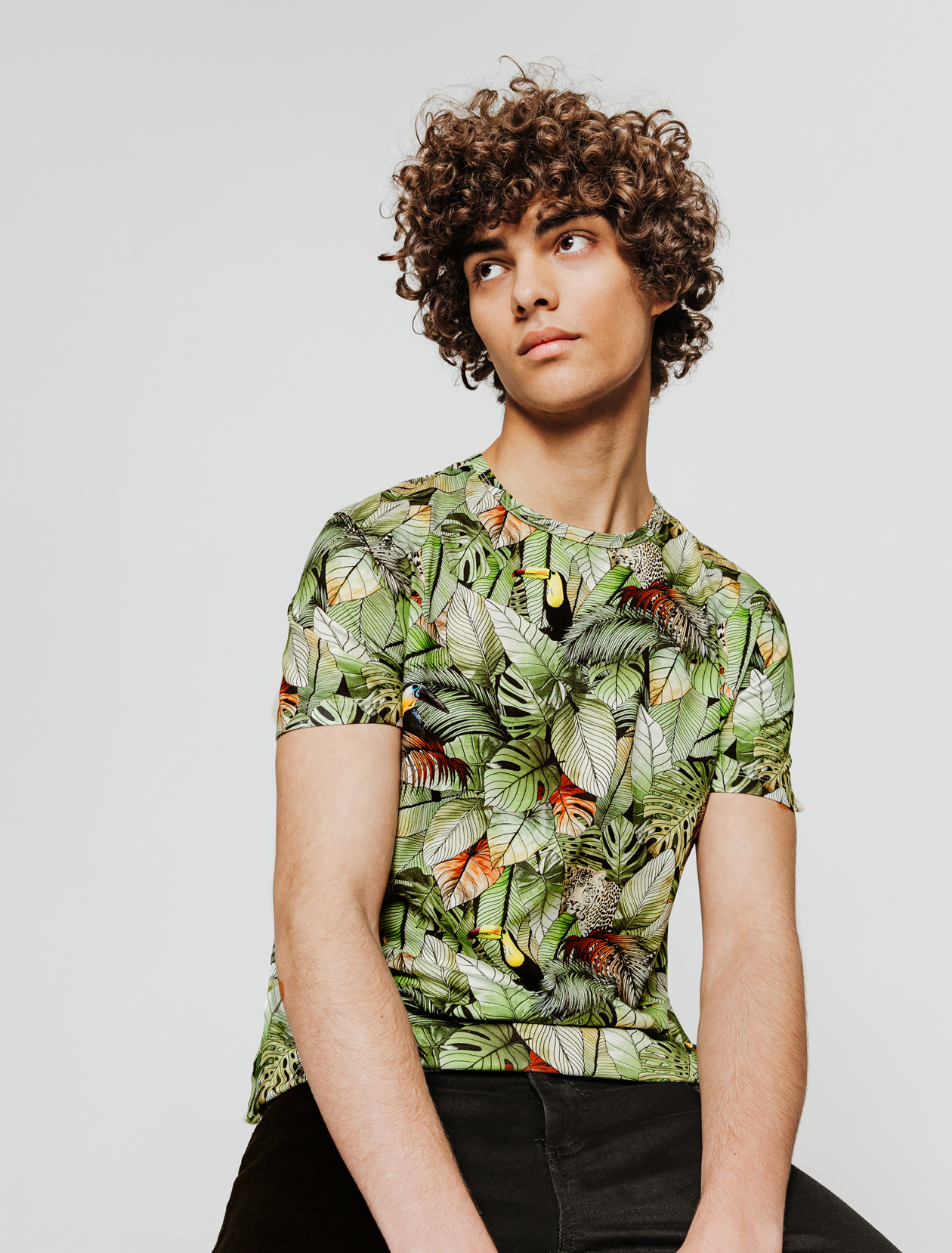 T-shirt print vif tropical homme