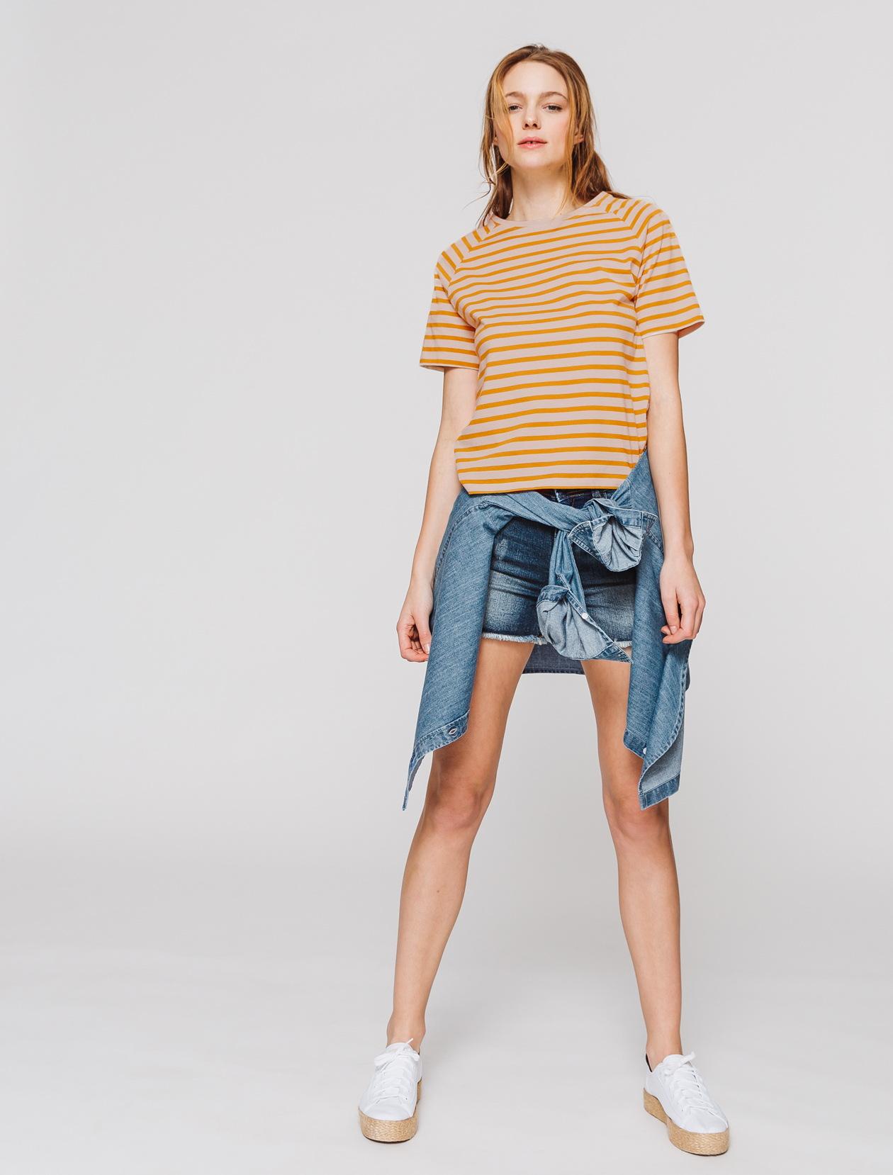 T-shirt raglan marinière  femme