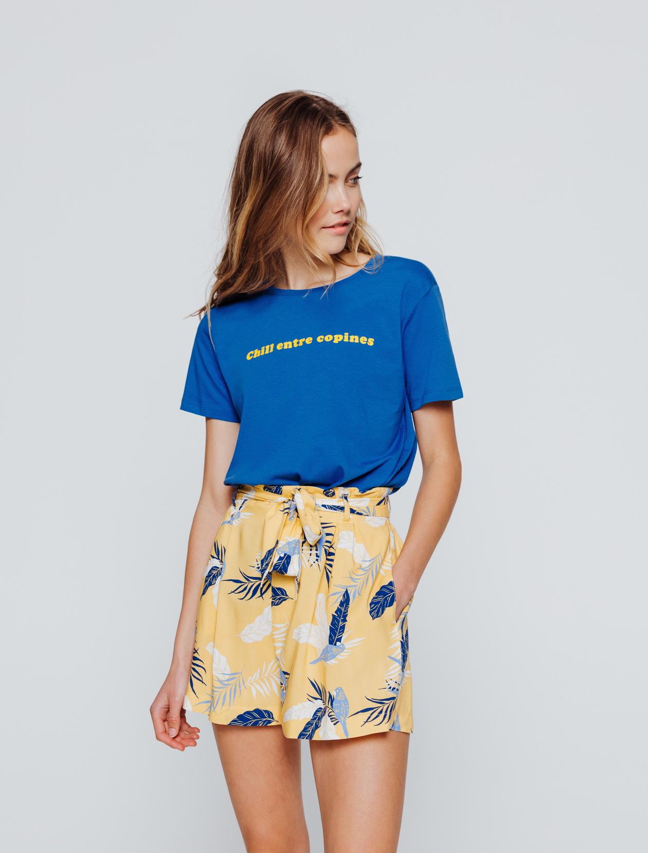 """T-shirt message """"Chill entre copines"""" femme"""