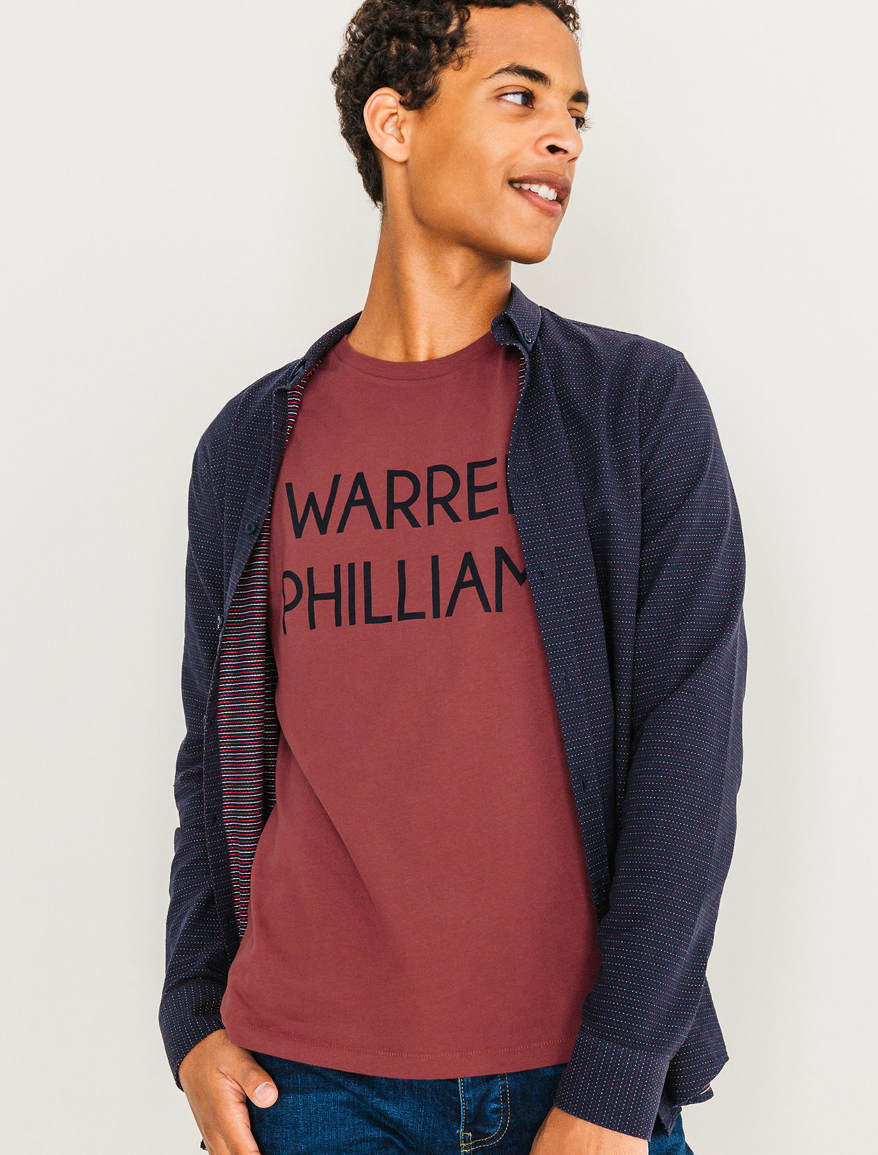 Tee shirt Warrel Philliams homme