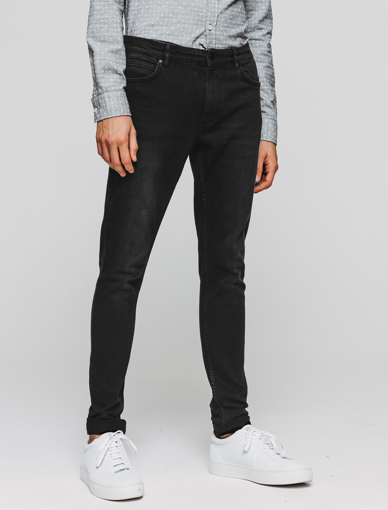 Jean ultra skinny noir homme