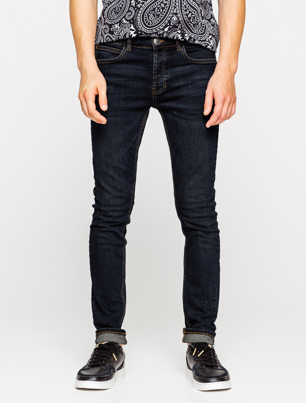 Jean skinny basique rinse blue homme